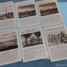 Folletos de turismo: 6 FOLLETOS PATRONATO NACIONAL DE TURISMO BARCELONA, GRANADA, SAN SEBASTIAN, SANTIAGO ETC AÑOS 20-30.. Lote 56804292