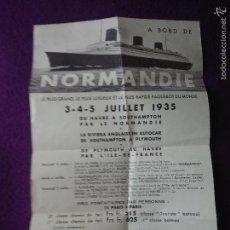 Foglietti di turismo: NORMANDIE 1935. Lote 56837248