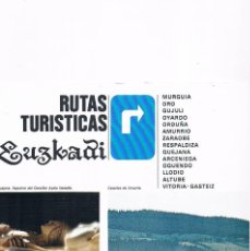 Folletos de turismo: FOLLETO TURISMO ANTIGUO RUTAS TURÍSTICAS EUSKADI 1984. Lote 56854152