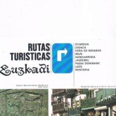 Folletos de turismo: FOLLETO TURISMO ANTIGUO RUTAS TURÍSTICAS EUSKADI 1984. Lote 56854170