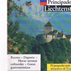 Folletos de turismo: FOLLETO ANTIGUO TURISMO PRINCIPADO DE LIECHTENSTEIN. Lote 56854385