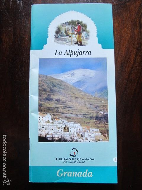 FOLLETO LA ALPUJARRA TURISMO DE GRANADA SIERRA NEVADA (Coleccionismo - Folletos de Turismo)