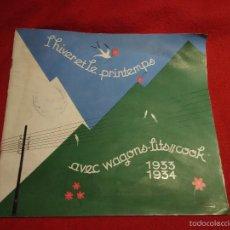 Folletos de turismo: L´HIVER ET LE PRINTEMPS. WAGONS-LITS .1933-34. Lote 57095997