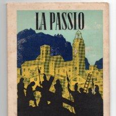 Folletos de turismo: LA PASSIO D' OLESA DE MONTSERRAT MDCCXCII. Lote 57106449