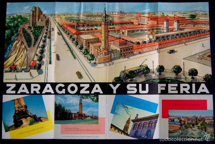 Folletos de turismo: FOLLETO XVIII FERIA OFICIAL Y NACIONAL DE MUESTRAS. ZARAGOZA 2-19 OCTUBRE 1958. UNA GRANDE Y LIBRE. - Foto 3 - 57120342