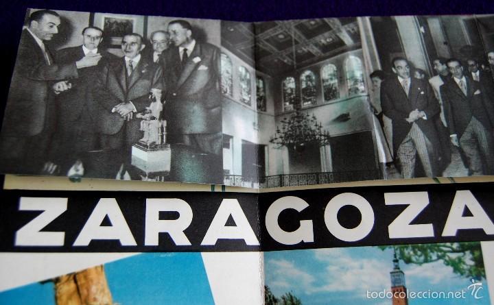 Folletos de turismo: FOLLETO XVIII FERIA OFICIAL Y NACIONAL DE MUESTRAS. ZARAGOZA 2-19 OCTUBRE 1958. UNA GRANDE Y LIBRE. - Foto 5 - 57120342