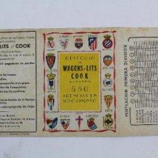 Folletos de turismo: PR-157 OBSEQUIO DE WAGONS LITS COOK CON CALENDARIO DE LA PRIMERA DIVISION AÑO1953. Lote 57152130