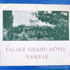 Folletos de turismo: PALACE GRAND HOTEL. VARESE. ITALIA, S/F. Lote 57181599