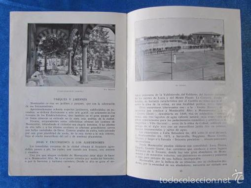 Folletos de turismo: Nº 8 MONTECATINI. ESTACIÓN DE CURA DE RENOMBRE SECULAR. SOCIETÀ EDITRICE DI NOVISSIMA. ROMA, 1929 - Foto 5 - 57202409