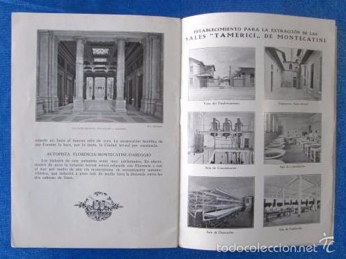 Folletos de turismo: Nº 8 MONTECATINI. ESTACIÓN DE CURA DE RENOMBRE SECULAR. SOCIETÀ EDITRICE DI NOVISSIMA. ROMA, 1929 - Foto 6 - 57202409