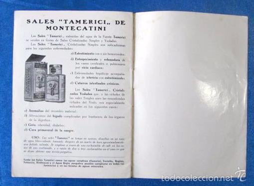 Folletos de turismo: Nº 8 MONTECATINI. ESTACIÓN DE CURA DE RENOMBRE SECULAR. SOCIETÀ EDITRICE DI NOVISSIMA. ROMA, 1929 - Foto 7 - 57202409