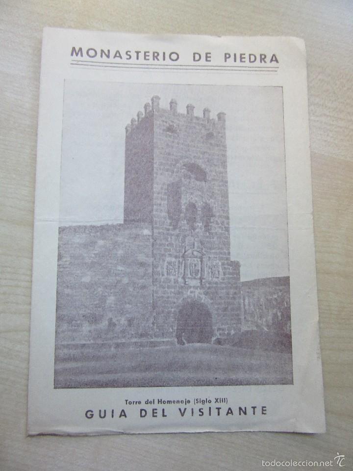 ANTIGUA GUÍA DEL VISITANTE DEL MONASTERIO DE PIEDRA (Coleccionismo - Folletos de Turismo)