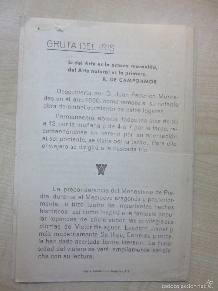 Folletos de turismo: Antigua Guía del Visitante del Monasterio de Piedra - Foto 2 - 57260360