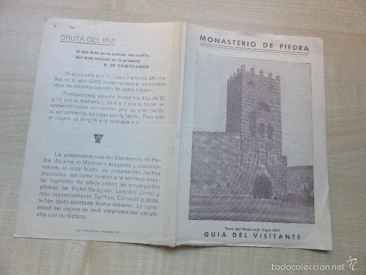 Folletos de turismo: Antigua Guía del Visitante del Monasterio de Piedra - Foto 4 - 57260360