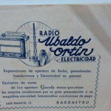 Folletos de turismo: BARBASTRO HUESCA. ANTIGUO PROGRAMA DE FIESTAS ORIGINAL DEL AÑO 1947. MUCHA PUBLICIDAD. Lote 57455495