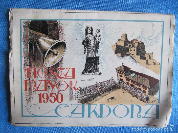CARDONA. FIESTA MAYOR, 1950. DÍAS 9 - 10- 11 Y 12 DE SEPTIEMBRE DE 1950. (Coleccionismo - Folletos de Turismo)
