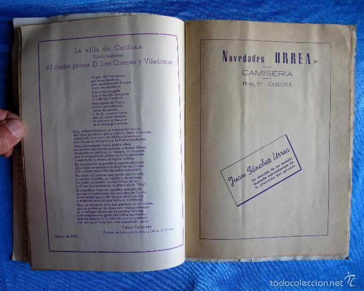 Folletos de turismo: CARDONA. FIESTA MAYOR, 1950. DÍAS 9 - 10- 11 Y 12 DE SEPTIEMBRE DE 1950. - Foto 4 - 57608118