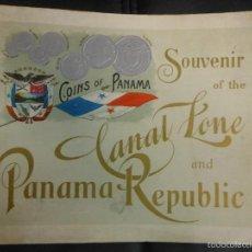 Folletos de turismo: CANAL DE PANAMA FOLLETO DE TURISMO SOUVENIR CON IMAGENES DE POSTALES POSTAL AMERICA. Lote 57891915