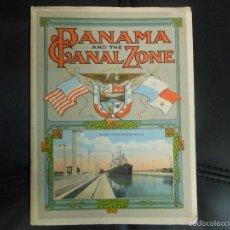 Folletos de turismo: 1914 CANAL DE PANAMA FOLLETO DE TURISMO SOUVENIR CON IMAGENES DE POSTALES POSTAL AMERICA USA. Lote 57891984
