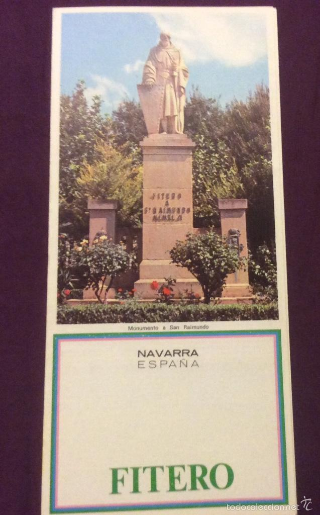 FOLLETO TURISMO AÑOS 70. FITERO. NAVARRA. TRIPTICO (Coleccionismo - Folletos de Turismo)