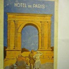 Folletos de turismo: LIBRITO 46 PAG.HOTEL PARIS TARRAGONA 1924 .-MUCHAS FOTOS ARTICULOS HOTEL Y MONUMENTOS DE LA CIUDAD,. Lote 58008962