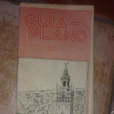 Folletos de turismo: GUÍA FOLLETO TURISTICO PLANO DE SEVILLA DESPLEGABLE ANTIGUA.. Lote 58070022