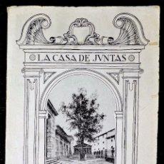 Folletos de turismo: LIBRILLO DE LA CASA DE JUNTAS DE GUERNICA. AÑO: 1936 TEXTO CARMELO DE ECHEGARAY, 20 ILUSTRACCIONES.. Lote 58071045
