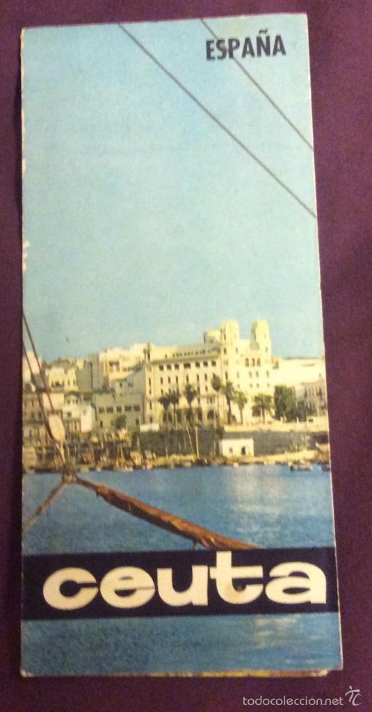 FOLLETO TURISMO. CEUTA. AÑOS 60-70. DESPLEGABLE (Coleccionismo - Folletos de Turismo)