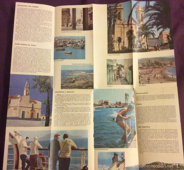 Folletos de turismo: FOLLETO TURISMO. CEUTA. AÑOS 60-70. DESPLEGABLE - Foto 2 - 58192406