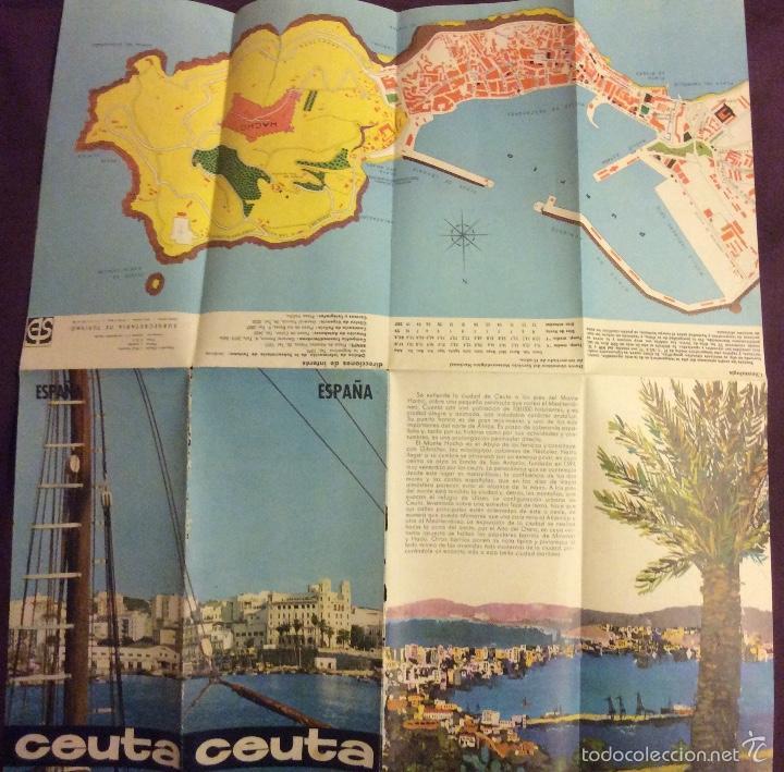 Folletos de turismo: FOLLETO TURISMO. CEUTA. AÑOS 60-70. DESPLEGABLE - Foto 3 - 58192406