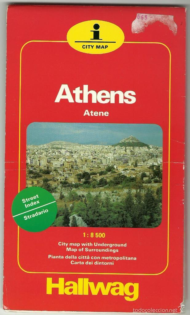 PLANO DE LA CIUDAD DE ATENAS - HALLWAG (Coleccionismo - Folletos de Turismo)