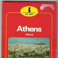 Folletos de turismo: PLANO DE LA CIUDAD DE ATENAS - HALLWAG. Lote 58196369