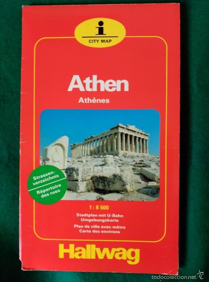 Folletos de turismo: PLANO DE LA CIUDAD DE ATENAS - HALLWAG - Foto 2 - 58196369