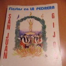 Folletos de turismo: FIESTAS EN LA PEDRERA. GIJON. SAN JUAN. 21, 22, 23 Y 24 DE JUNIO DE 1980. LIBRO-PROGRAMA DE LAS FIES. Lote 95262270