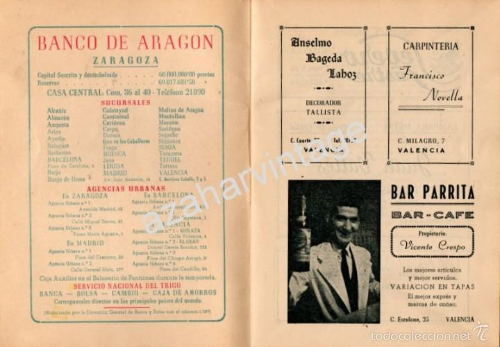 Folletos de turismo: PROGRAMA OFICIAL - VALENCIA - GRAN FERIA DE JULIO - AÑO 1955, 30 PAGINAS - Foto 2 - 58499869