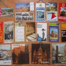Folletos de turismo: BARCELONA.-CALDETAS.-SURIA.-ARENYS DE MAR.-CASTELLDEFELS.-BERGUEDA.-RIPOLLES.-MONTSERRAT.-TURISMO.. Lote 58566767