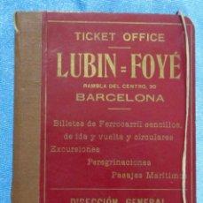 Folletos de turismo: CARPETA DE VIAJE. LUBIN-FOYÉ. STRADE FERRATE ITALIANE. CHEMINS DE FER DU MIDI. BARCELONA, 1911. Lote 58579515