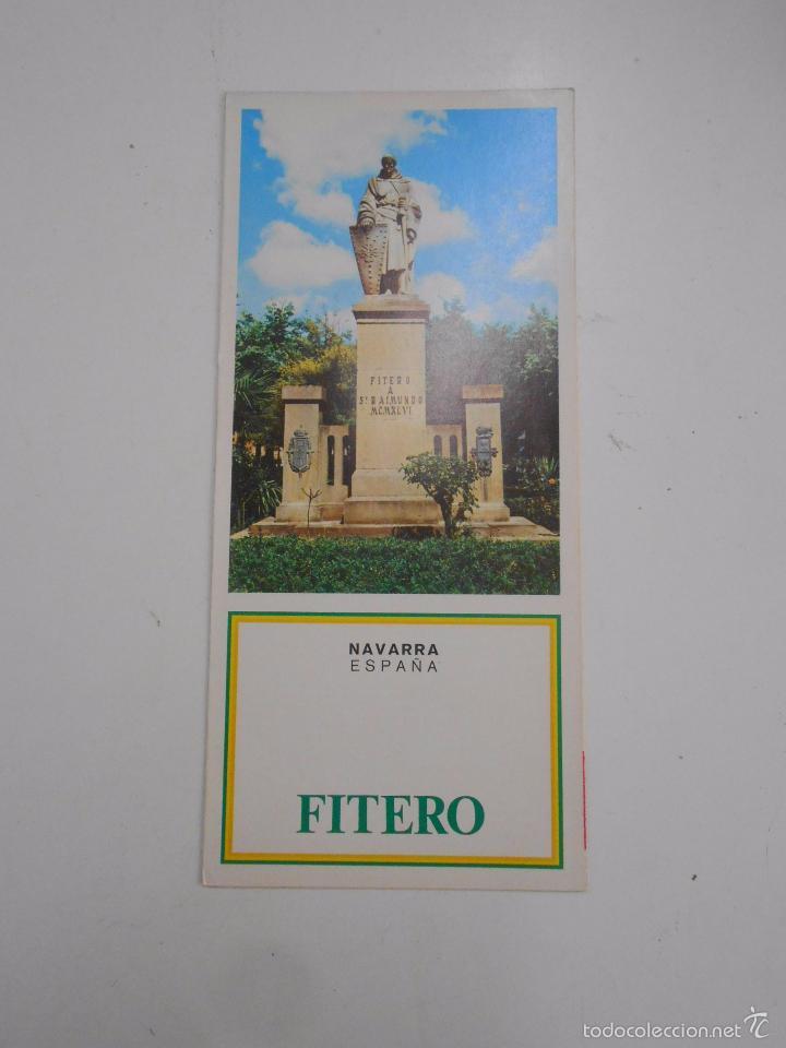 FOLLETO DE NAVARRA. FITERO. TDK50 (Coleccionismo - Folletos de Turismo)