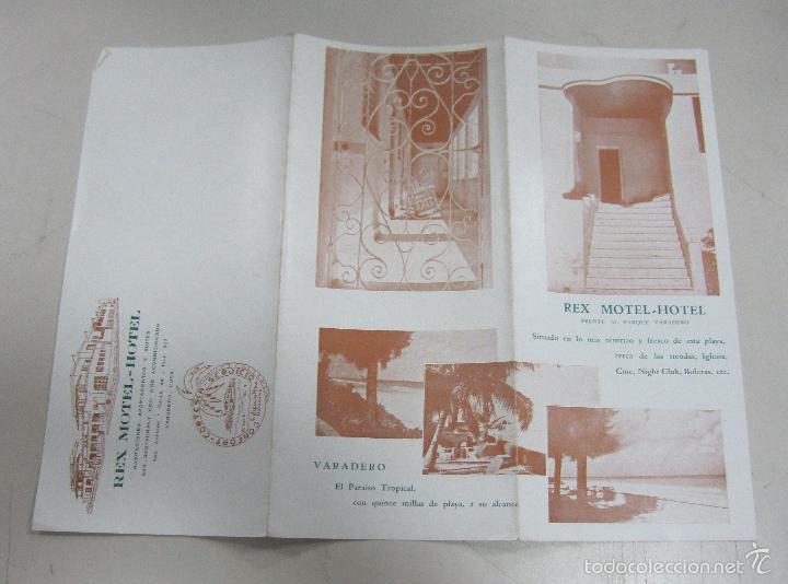 FOLLETO DE TURISMO. REX MOTEL - HOTEL. VARADERO, CUBA. IMAGENES DEL HOTEL. VER (Coleccionismo - Folletos de Turismo)