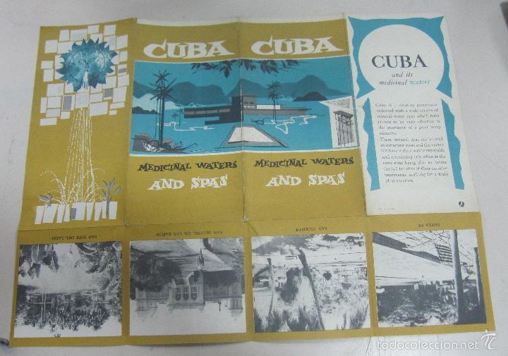 FOLLETO DE TURISMO. CUBA. MEDICINAL WATERS AND SPAS. SANTA FE, SAN VICENTE, SAN JOSE DEL LAGO. VER (Coleccionismo - Folletos de Turismo)