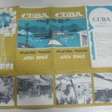 Folletos de turismo: FOLLETO DE TURISMO. CUBA. MEDICINAL WATERS AND SPAS. SANTA FE, SAN VICENTE, SAN JOSE DEL LAGO. VER. Lote 58660892
