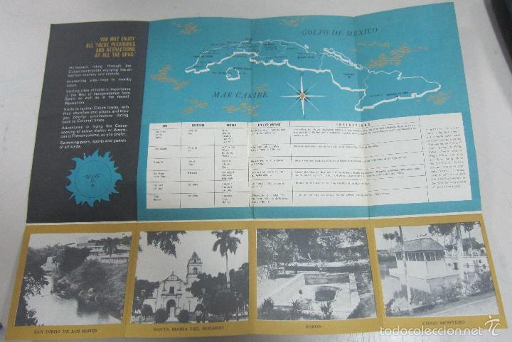Folletos de turismo: FOLLETO DE TURISMO. CUBA. MEDICINAL WATERS AND SPAS. SANTA FE, SAN VICENTE, SAN JOSE DEL LAGO. VER - Foto 2 - 58660892
