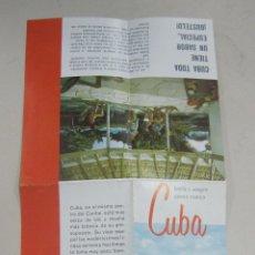 Folletos de turismo: FOLLETO DE TURISMO. CUBA. HOTELES, CLIMA, CLUBES, MONUMENTOS, DEPORTES. DESCRIPCION. VER. Lote 58661094