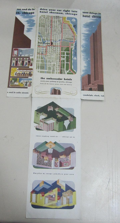 FOLLETO DE TURISMO. HOTEL SHERMAN, CHICAGO. CON MAPA DE SITUACION. DESPLEGABLE. VER (Coleccionismo - Folletos de Turismo)