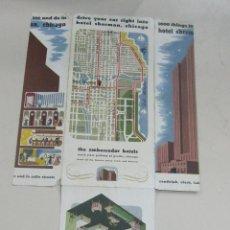 Folletos de turismo: FOLLETO DE TURISMO. HOTEL SHERMAN, CHICAGO. CON MAPA DE SITUACION. DESPLEGABLE. VER. Lote 58665232