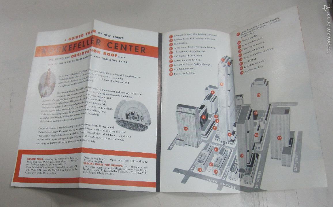 Folletos de turismo: FOLLETO DE TURISMO. ROCKEFELLER CENTER INCLUDING THE OBSERVATION ROOF. VER - Foto 2 - 58665374