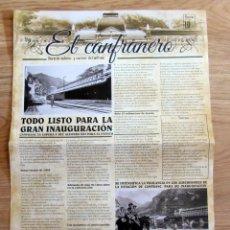 Folletos de turismo: EL CANFRANERO REEDICION PERIODICO ESTACION DE FERROCARRIL DE CANFRANC HUESCA. Lote 109047791