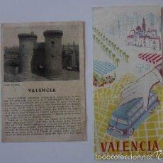 Folletos de turismo: DOS FOLLETOS DESPLEGABLES DE VALENCIA. Lote 59030275