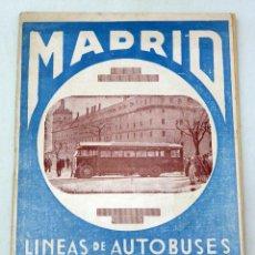 Folletos de turismo: GUÍA LÍNEAS AUTOBUSES MADRID HOTELES Y EXCURSIONES TAFESA AÑOS 20. Lote 59034455
