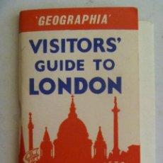 Folletos de turismo: GUIA DE LONDRES AÑOS 50 . CON MAPA . EN INGLES. Lote 59728363